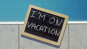 I am on vacation Royalty Free Stock Photos