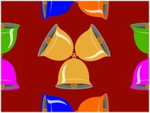 I vari colori delle campane di tintinnio illustrazione vettoriale