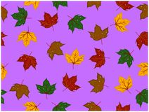 I vari colori delle foglie progettate hanno alcuni fori royalty illustrazione gratis