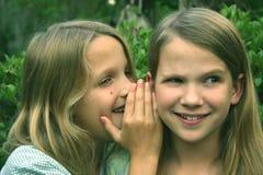 I've got a secret!. 2 girls sharing a secret Royalty Free Stock Photography