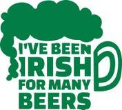 I ` ve Iers voor velen bieren het Ierse zeggen stock illustratie