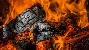 Fire walk with me. I`ve always liked fire and the sounds it makes when the wood is burning, but capturing it in a way so everyone else could feel it is another Stock Images