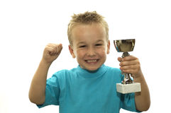 I've won the cup! Royalty Free Stock Photography