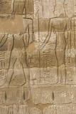 I vecchi geroglifici dell'egitto hanno intagliato sulla pietra Immagini Stock