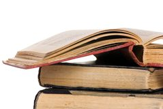 I vecchi libri aprono 4 Immagini Stock Libere da Diritti