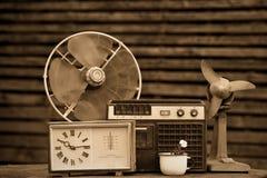 I vecchi oggetti di 70-90 anni Fotografia Stock Libera da Diritti