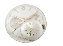 I vecchi orologi hanno dettagliato Fotografia Stock