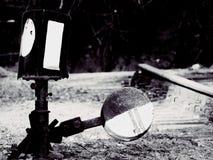 I vecchi segni ferroviari Fotografie Stock