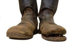 I vecchi stivali dei soldati. Fotografia Stock Libera da Diritti