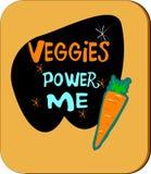 I Veggies lo alimentano illustrazione vettoriale