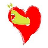 I vermi mangiano l'amore Parassiti dei parassiti in focolare illustrazione di stock