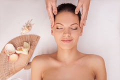 I very like this skin care treatment Royalty Free Stock Photography
