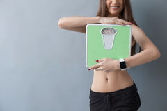 I am very satisfied with my diet Stock Photography