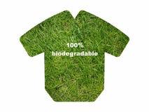 I vestiti biodegradabili amichevoli di Eco mandano un sms all'icona di simbolo del segno isolata su bianco immagini stock libere da diritti