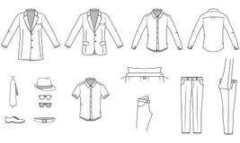 I vestiti degli uomini Fotografia Stock