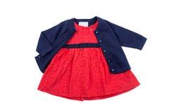 I vestiti dei bambini, per la ragazza, isolati Fotografia Stock
