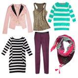I vestiti delle donne di modo Isolato Immagine Stock