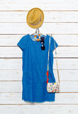 I vestiti e gli accessori delle donne Fotografia Stock Libera da Diritti