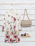 I vestiti e gli accessori delle donne Fotografie Stock Libere da Diritti