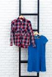 I vestiti e gli accessori delle donne Immagine Stock Libera da Diritti