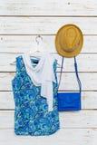 I vestiti e gli accessori delle donne Immagini Stock