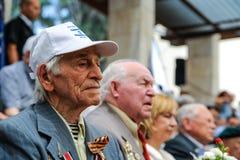 I veterani della seconda guerra mondiale alla celebrazione del nona possono Fotografie Stock Libere da Diritti