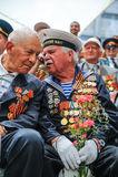I veterani della seconda guerra mondiale alla celebrazione del nona possono Fotografia Stock Libera da Diritti
