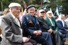 I veterani sconosciuti su Victory Day Fotografia Stock Libera da Diritti