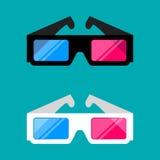 i vetri 3D isolati su un fondo colorato vector l'illustrazione Fotografie Stock