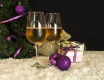 I vetri del champagne del nuovo anno Fotografie Stock