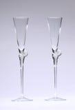 I vetri di Champagne svuotano Fotografie Stock Libere da Diritti