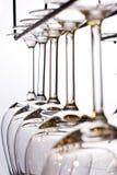 I vetri di vino hanno allineato Immagine Stock Libera da Diritti