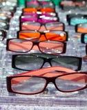 I vetri per la fine sulla vista nelle righe molti eye i vetri Fotografie Stock Libere da Diritti