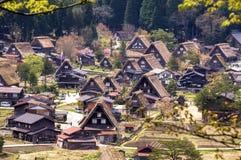 I villaggi storici di Shirakawago Fotografia Stock