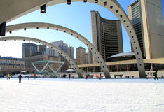 Toronto Nathan Phillips kvadrerar Royaltyfri Fotografi
