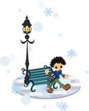 I vinterstaden Royaltyfri Bild