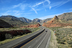 I-15 through Virgin River Canyon Royalty Free Stock Photos