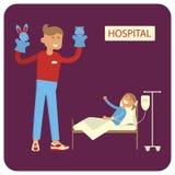 I volontari aiutano i bambini malati royalty illustrazione gratis