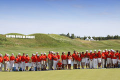 I volontari al francese del golf aprono 2015 Fotografie Stock Libere da Diritti