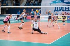 I Voronkova ( 8) ottenga una palla Fotografie Stock