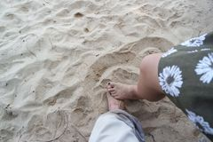 I vostri piedi Fotografie Stock Libere da Diritti