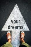 I vostri sogni fotografie stock