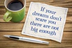 I vostri sogni non sono abbastanza grandi immagine stock