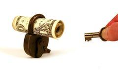 I vostri soldi sono chiusi? - serie Immagine Stock