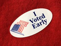 I voted early sitcker stock images