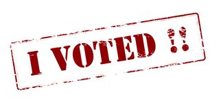 I voted. Rubber stamp with text i voted inside,  illustration Royalty Free Stock Photo