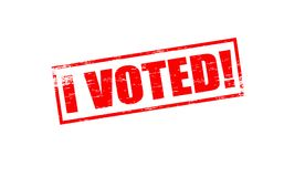 I voted. Rubber stamps with text i voted inside,  illustration Royalty Free Stock Image