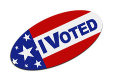 I Voted Sticker Royalty Free Stock Images