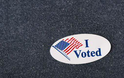I voted sticker - closeup stock images