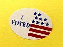 I voted sticker stock photography